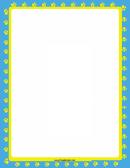Yellows Paws Page Border Templates