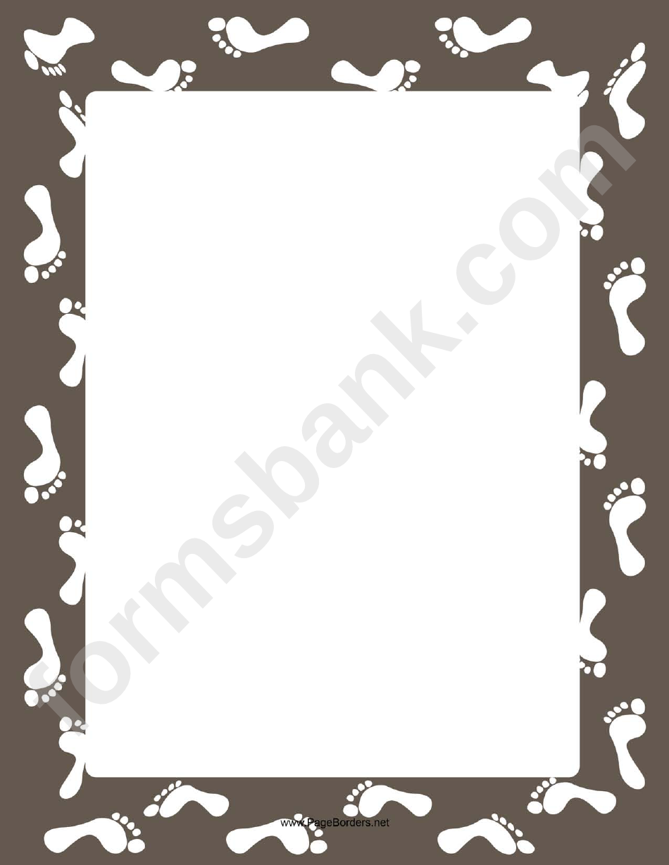 White Footsteps Page Border Templates