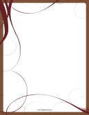 Brown Whirls Page Border Templates