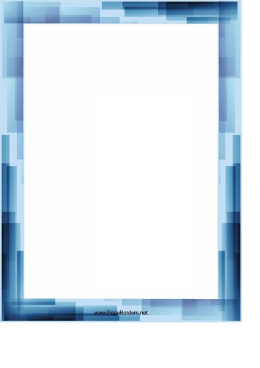 Blue Stripes Page Border Templates Printable Pdf Download