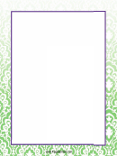 White Pattern On Green Page Border Templates