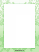 Flower Patterns Page Border Templates
