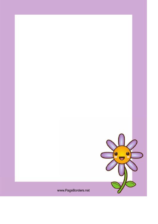 Flower Page Border Templates Printable pdf