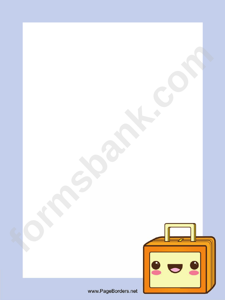 Suitcase Page Border Templates