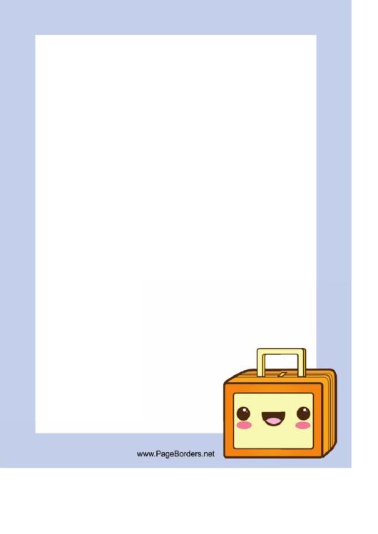 Suitcase Page Border Templates Printable pdf