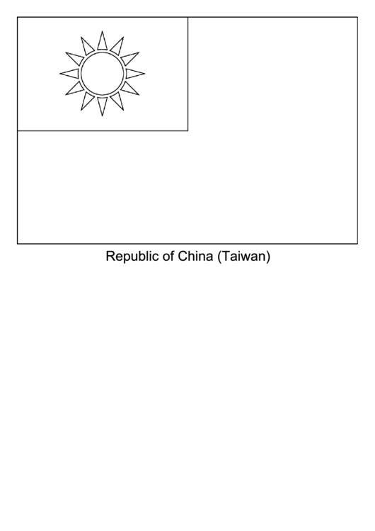 blank republic of china flag template printable pdf download
