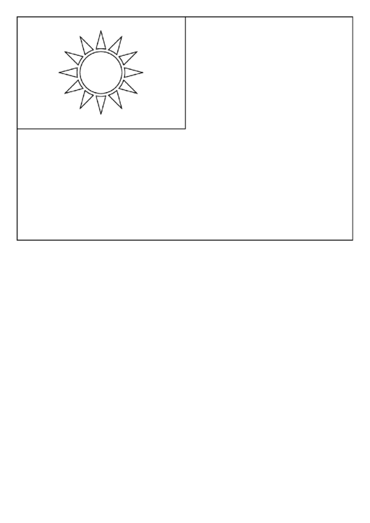 republic of china flag template printable pdf download