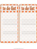 Orange To Do List