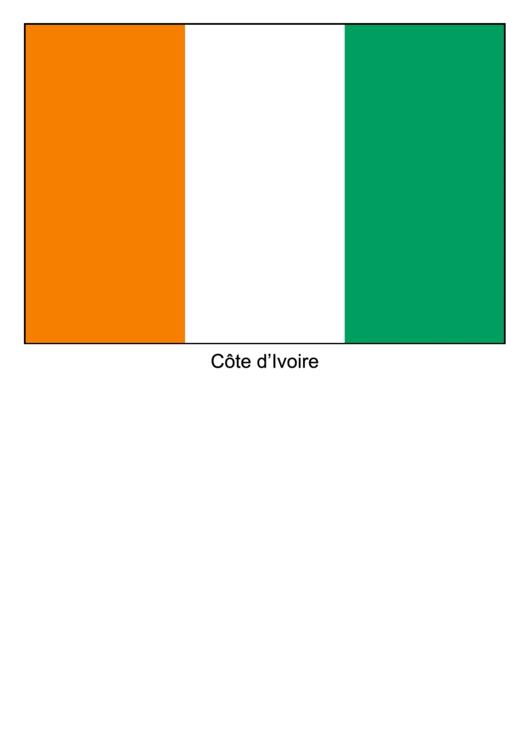 Cote D Ivoire Flag Template Printable pdf
