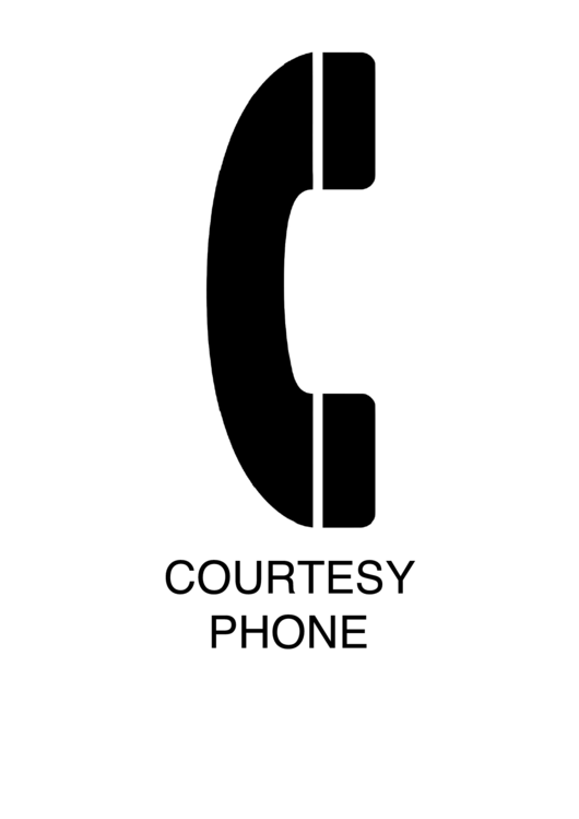 Courtesy Phone Sign Templates