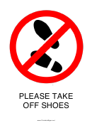 Please Take Off Shoes