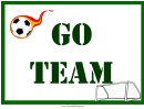 Soccer Lawn Sign