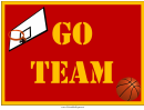 Basketball Lawn Sign
