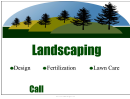 Landscaping Lawn Sign