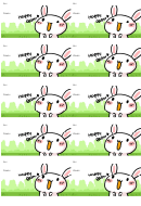 Happy Easter Gift Tag Template