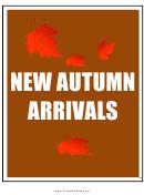 New Autumn Arrivals Sign Templates
