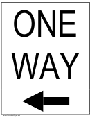 One Way Sign Templates
