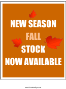 New Season Fall Stock Sign Templates
