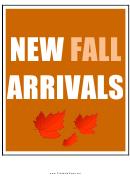 New Fall Arrivals