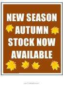 New Season Autumn Sale