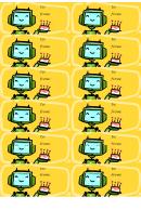 Birthday Robot Gift Tag