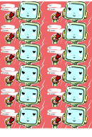 Valentine Robot Gift Tag Template