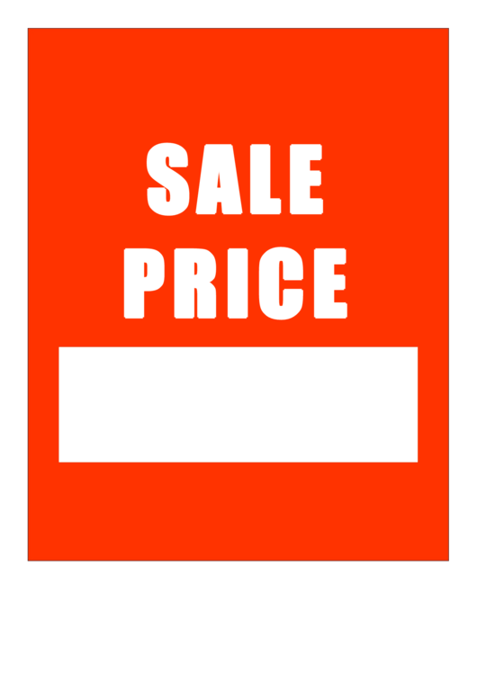 sale price sign template printable pdf download