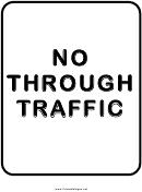 No Through Traffic Sign Templates