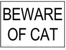 Beware Of Cat Sign Templates