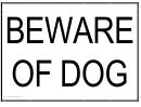 Beware Of Dog Sign Templates
