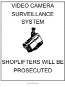 Video Camera Surveillance System