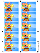 Birthday Gift Tag Template - Boy And Cake With Candles