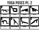 Yoga Poses Part 2 Chart
