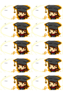 Graduate Girl Gift Tag Template