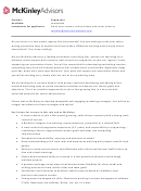 Mckinleyadvisors Cover Letter For Copywriters