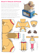 Max's Snack Attack Paper Model Template
