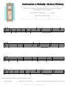 Hickory Dickory Harmonize A Melody Worksheet Template