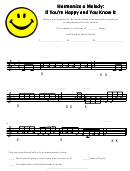 if you re happy and you know it sheet music printable pdf download. Black Bedroom Furniture Sets. Home Design Ideas