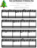 O Christmas Tree Tonic And Dominant Worksheet Template