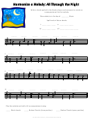 All Through The Night Harmonize A Melody Worksheet Template