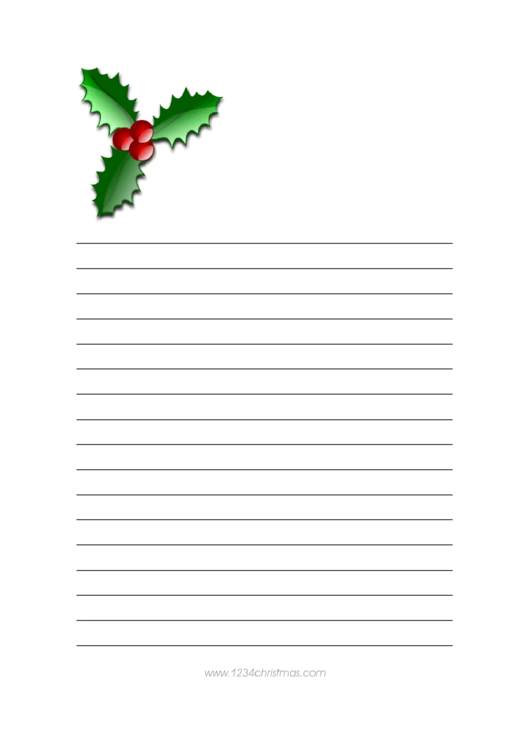 Christmas Writing Paper Template Printable pdf