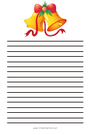 Bells Christmas Writing Paper Template