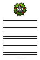 Happy Holiday Christmas Writing Paper Template