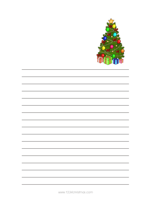 Christmas Tree Writing Paper Template Printable pdf