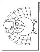 Piligrim Thanksgiving Turkey Coloring Sheet