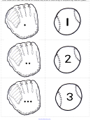 Mitts And Balls Number Matching/sequencing Number Game Cards Templates