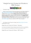 Florida Service Invoice Template