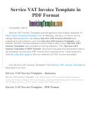 Service Vat Invoice Template