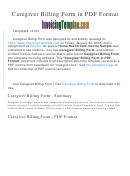 Caregiver / Healthcare Provider Service Invoice Template