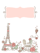 Romantic Paris Binder Cover Template
